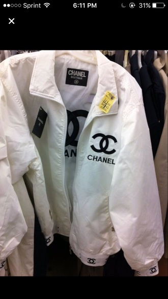 jacket white chanel dope bomber jacket