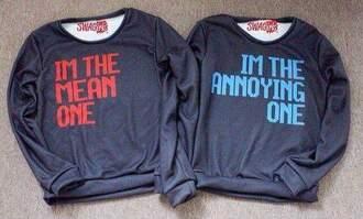 sweater best friends top