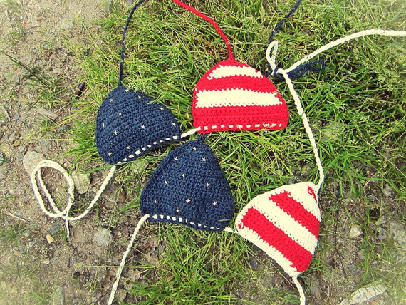 American girl crochet bikini top by lauleaaliyah on etsy