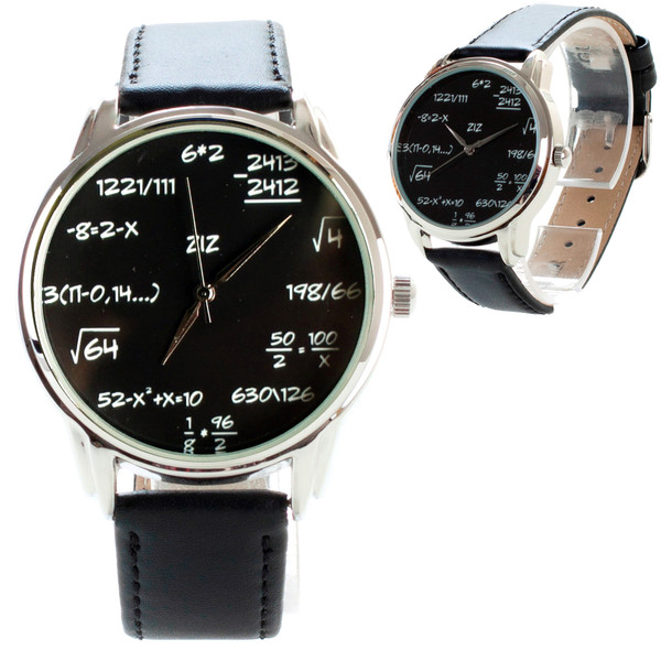 jewels ziziztime watch watch maths watch leather watch unusual watch unique watch designer watch cool watch ziz watch formula watch black n white