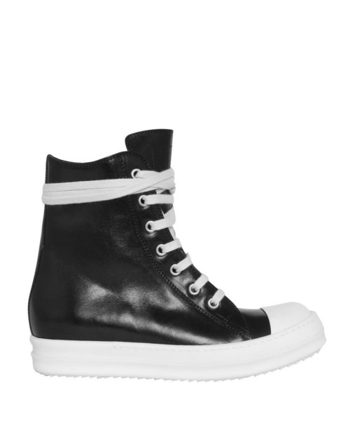 Rick Owens high sneakers leather shoes
