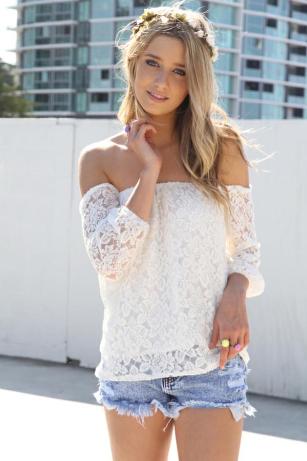 shirt blouse top white