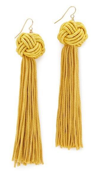 tassel earrings gold jewels