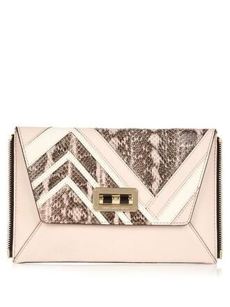 zip clutch light pink light pink bag