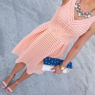 dress summer dress summer pink salmon