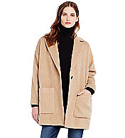 Wool Cocoon Coat - Outerwear & Jackets - Womens - Armani Exchange