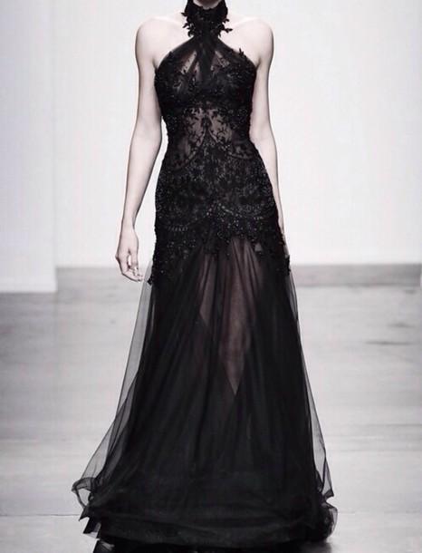 Long Black Classy Dresses