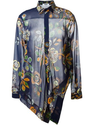 shirt floral print top