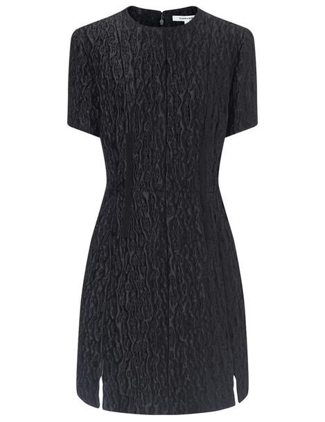 Carven dress mini dress mini jacquard black