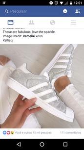 shoes,glitter,adidas superstars