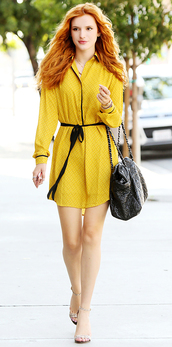 bella thorne,shirtdress,jacket,dress