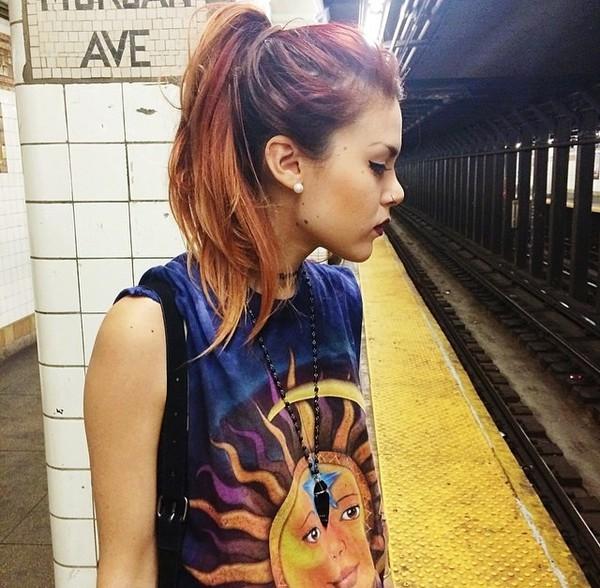moon sun purple rock edgy style luanna perez shirt