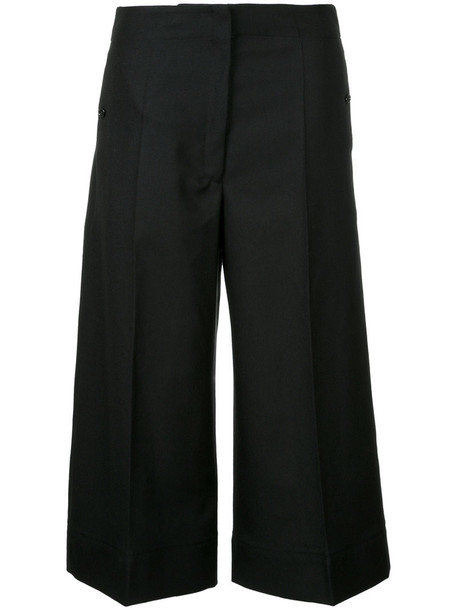 Lemaire cropped women black wool pants