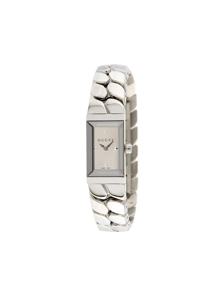 Gucci - Gourmette watch - women - stainless steel - One Size, Grey, stainless steel in metallic