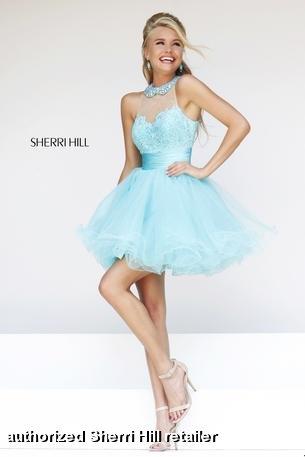 Prom Dresses 2014 -  Sherri Hill 21227  Short Halter