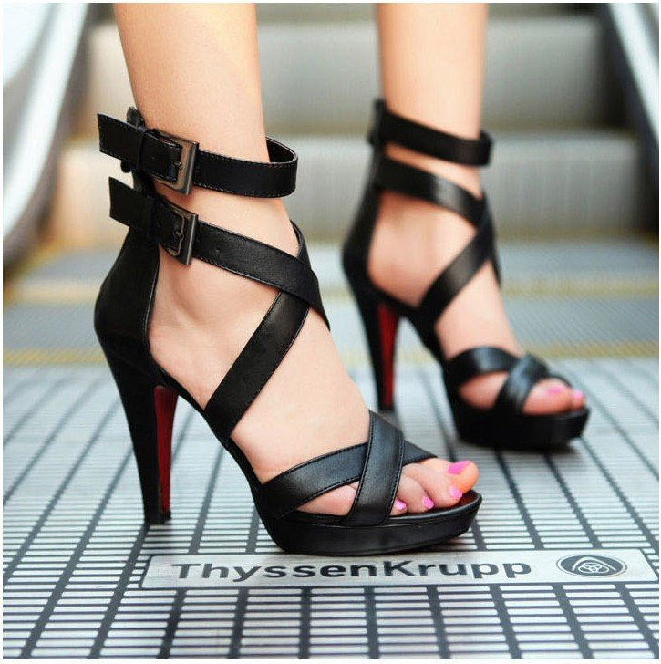 a725db573956 Korean version of the nightclub heels sexy roman style high jpg 725x728  Roman style heels