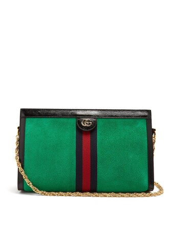 bag shoulder bag suede green
