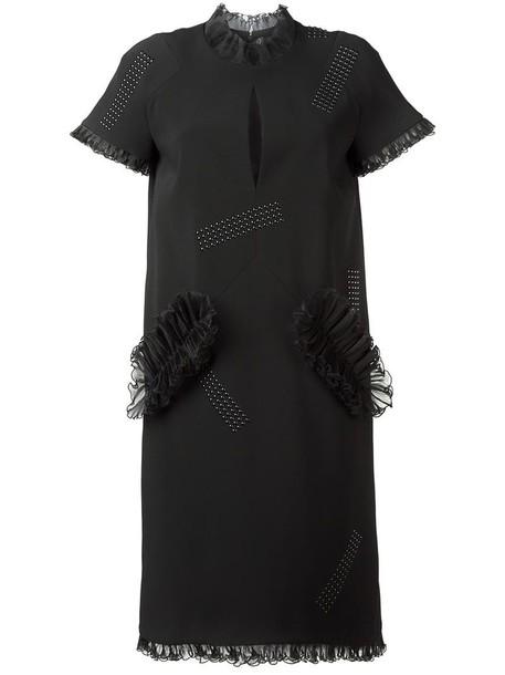 CHRISTOPHER KANE dress women spandex black silk