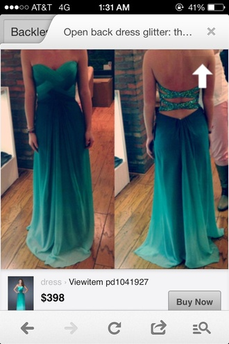 dress teal pretty prom