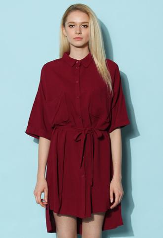 dress chicwish casual dress oversize dress shirt dress wine dress spring dress summer dress chicwish.com