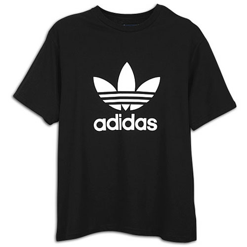 Blackwhite Casual Clothing Logo Adidas Men's Ss T Shirt Trefoil Originals XTZukOPi