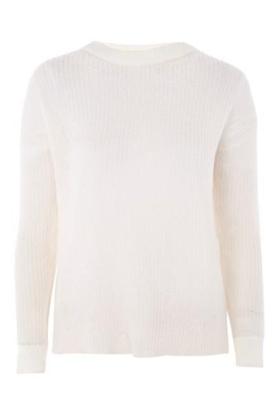 Topshop jumper back open open back cream sweater