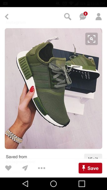 b66b184e678e shoes olive green adidas shoes adidas adidas nmd adidas nmd shoes tennis shoes  running shoes