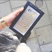 jewels,iphone case,marc by marc jacobs,gold,marc jacobs,phone cover,lovely