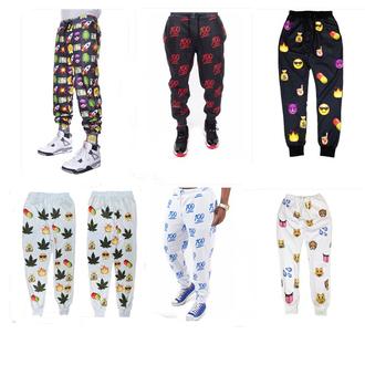 pants emoji pants emoji print emoji jogger pants crop tops
