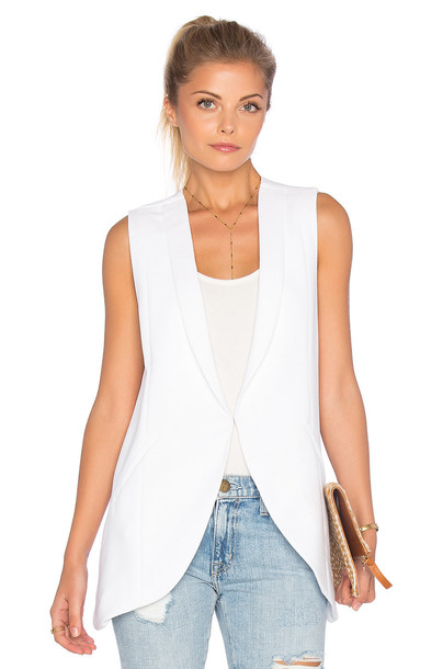 blazer sleeveless white
