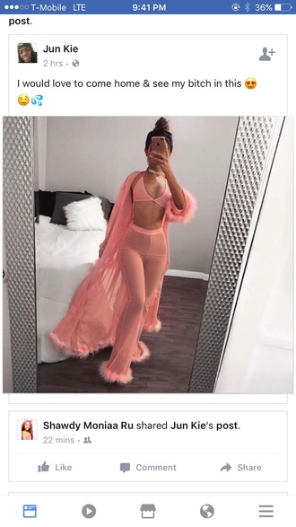 jumpsuit pajamas home girl pajamas romper sheer co ord pink sheer top sheer pink robe sexy