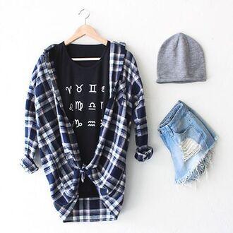 t-shirt nyct clothing oversized shirt flannel shirt plaid flannel plaid flannel shirts graphic tee distressed denim shorts