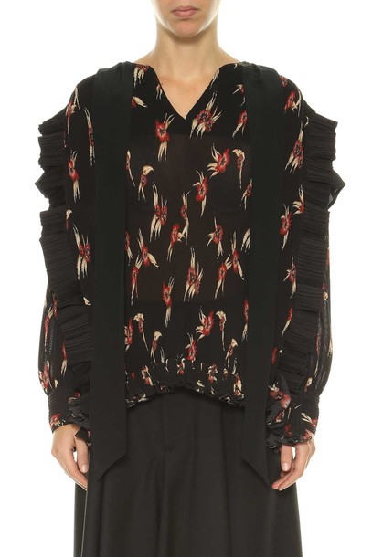 Isabel Marant blouse printed blouse black red top