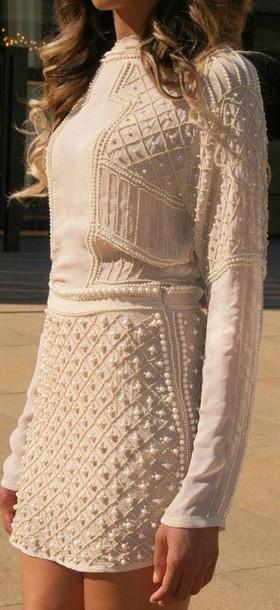 dress pearl dress pearl short dress outgoing dress beige dress shorts summer dress