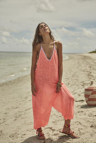 3b1e871bfd jumpsuit, cotton, jumper, romper, beach, beach, cover up, pitusa ...