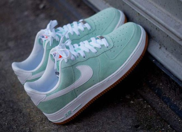 check out e6309 b18b6 nike air force 1 low arctic green white gum femme