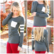 top,charcoal,long sleeves