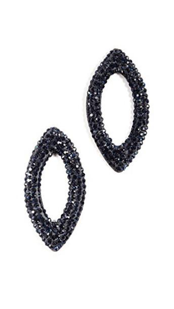 Native Gem earrings navy black jewels
