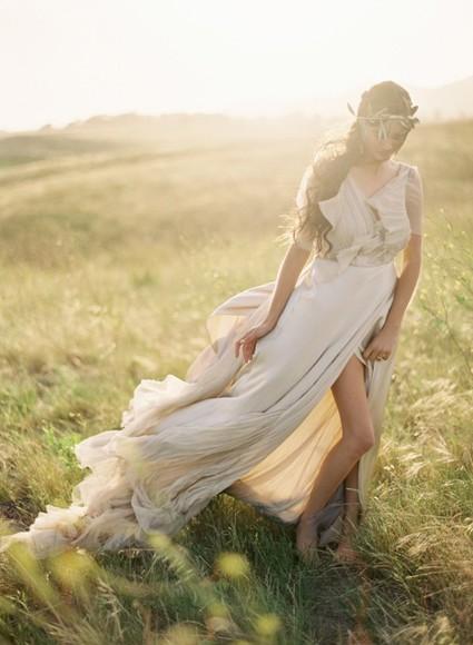 dress white dress long dress prom dress ivory dress fashion greek goddess dress greek goddess cream prom dress, white, open back, long short sleeve flower crown beautiful flowy dress summer dress faded formal expensive lovely jewels