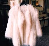 coat,fur,top,shaggy,cream