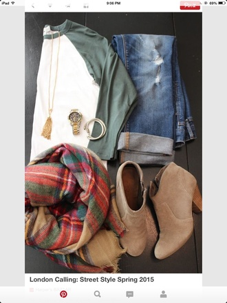 scarf flannel scarf blouse