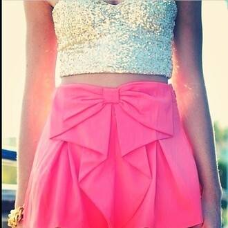 top skirt sparkle bows dressy attire but still be cute pink style