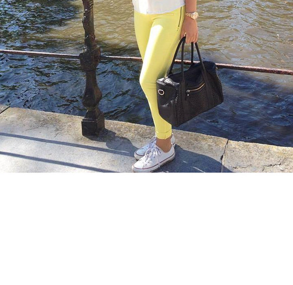 pants neon neon yellow yellow yellow pants