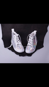 shoes,sneakers,high top sneakers,hologram sneakers,miley cyrus,rihanna style