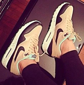shoes beige nike sneakers nike air max nike air max 1 nike airmax nike air beige shoes
