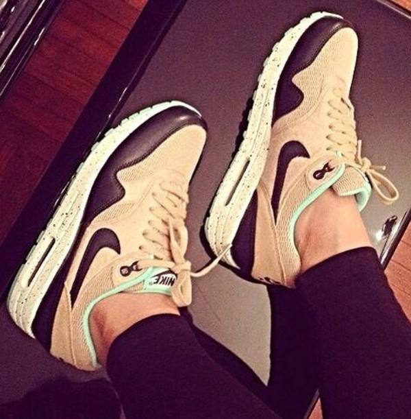 shoes nike nike shoes air max nike air max 1 nike running shoes nike sneakers air max nike air beige beige shoes