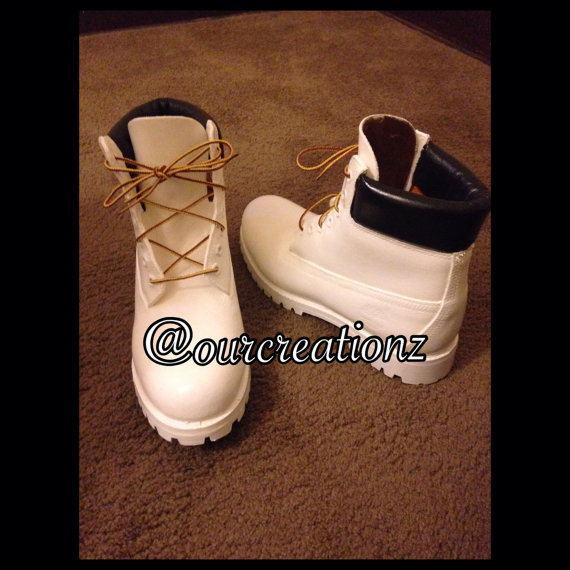 White tims with black leather