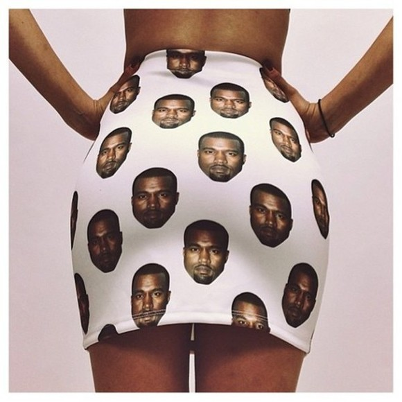 white kanye west skirt girl girls rapper heads pencil skirt