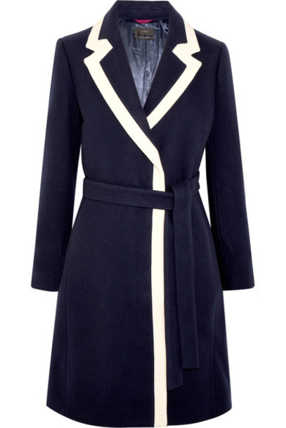 J.Crew coat blue wool