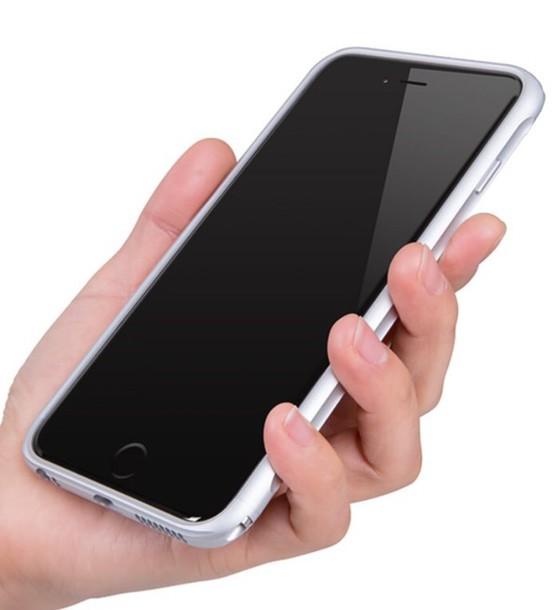 phone cover iphone 6 plus iphone 6 plus iphone 6 plus silver aluminum case metallic iphone case iphone cover